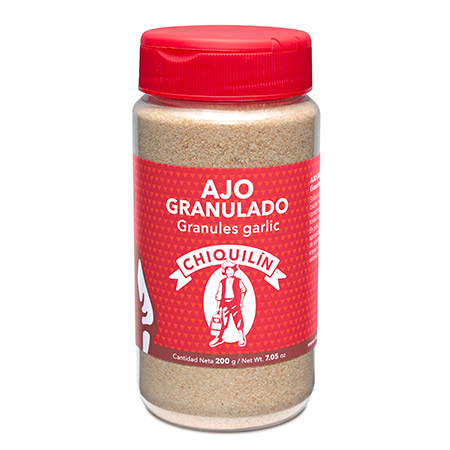 Granules Garlic<br/>Mini plastic jar 200g