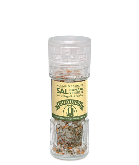 Salt with Garlic &#038; Parsley<br />Grinder 75g