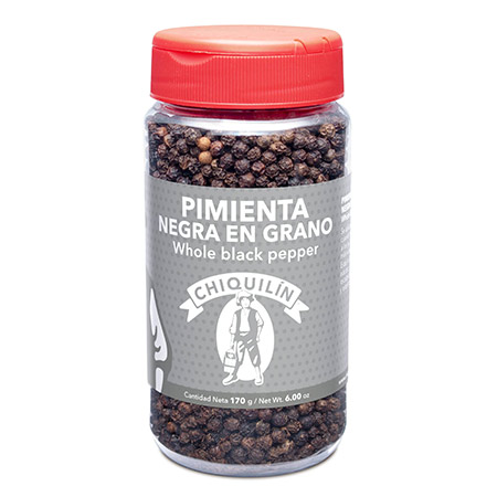 Whole Black Pepper<br/>Mini plastic jar 170g