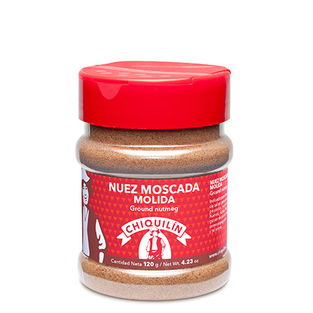 Ground nutmeg<br/>PM plastic jar 120g