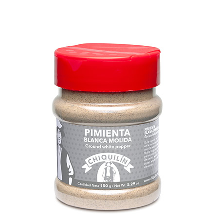 Ground White Pepper<br/>PM plastic jar 150g