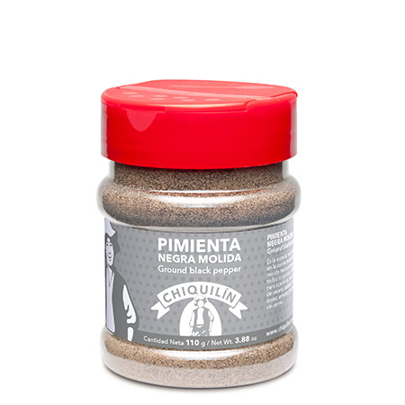 Ground Black pepper<br/>PM plastic jar 110g