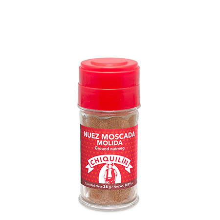 Ground nutmeg<br/>Plastic jar 28g