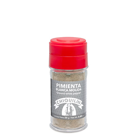 Ground White Pepper<br/>Plastic jar 25g
