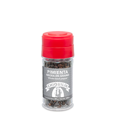 Whole Black Pepper<br/>Plastic jar 30g