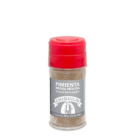 Ground Black Pepper<br/>Plastic jar 30g