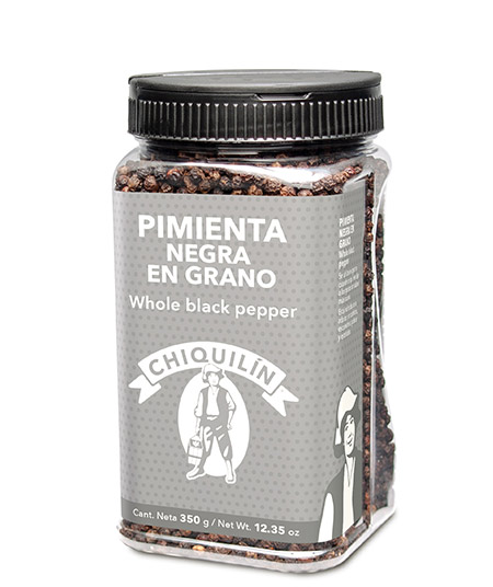 Whole Black Pepper<br/>Restaurant plastic bottle 350g