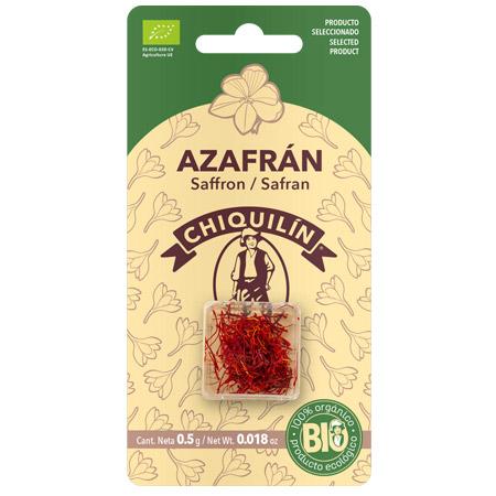 Blister Azafrán en hebras BIO 0,5 g