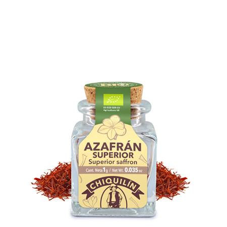 Tarro cristal Azafrán en hebra BIO 1g