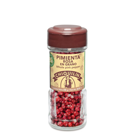 BIO Whole Pink Pepper<br/>Glass jar 23g