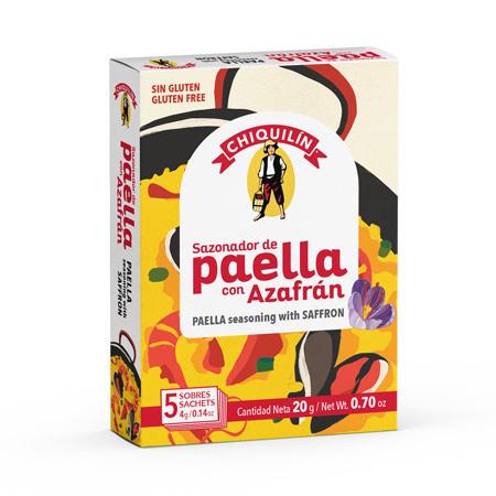 Sazonador de Paella con Azafran caja 5 sobres